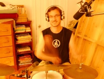 Pierre Haché on drums