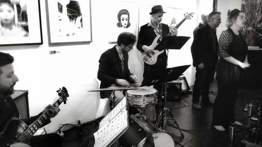 Eleuthera and the Melrose Mob play An Evening with Billie Holiday at BBAM! Gallery. Photo: Alex Miekus